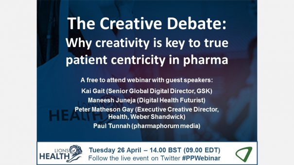 Available on demand – The Creative Debate: Why creativity is key to true patient centricity in pharma