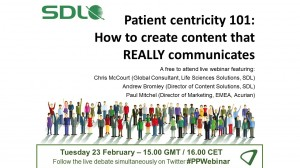 Available on demand: Patient centricity 101 – How to create content that REALLY communicates
