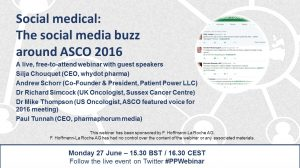 Available on demand: Social medical: The social media buzz around ASCO 2016