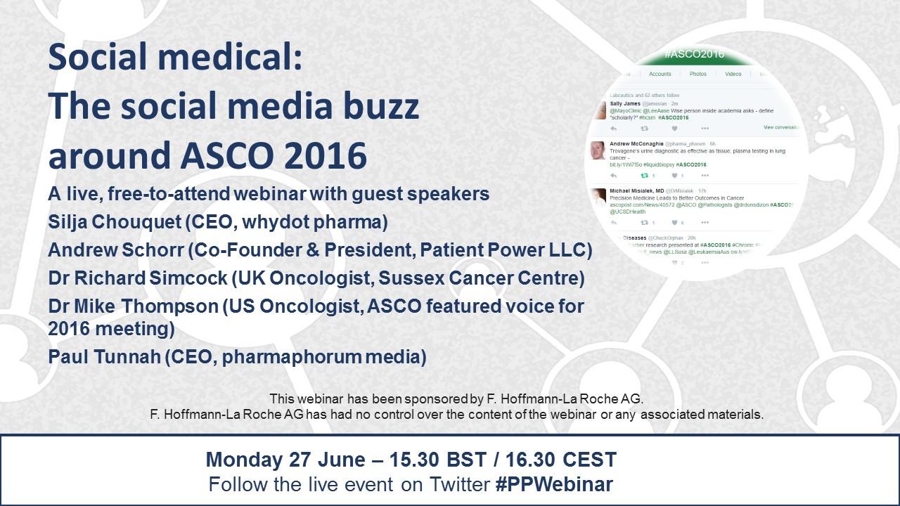 Available On Demand Social Medical The Social Media Buzz Around Asco 2016