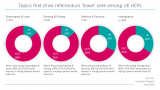 Topics that drive referendum 'leave' vote among UK HCPs