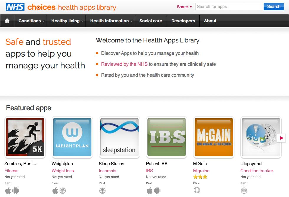 NHS-health-apps-library