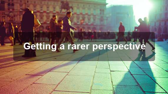 Getting a rarer perspective