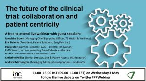 The future of the clinical trial: collaboration and patient centricity