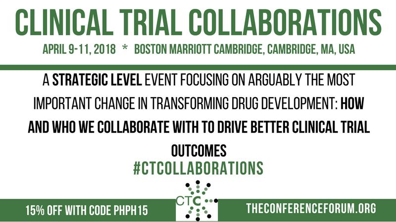 Clinical Trial Collaborations, April 9-11, 2018, Boston Marriott Cambridge, Cambridge, MA, USA