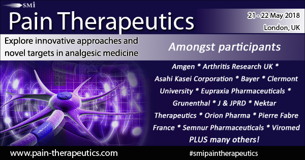 Pain Therapeutics conference is taking place in London next week