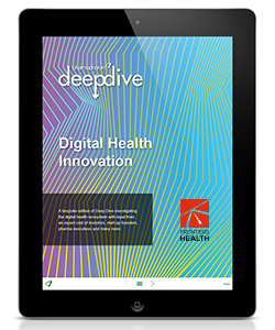 Deep Dive Frontiers 2018 publication featured on a tablet device