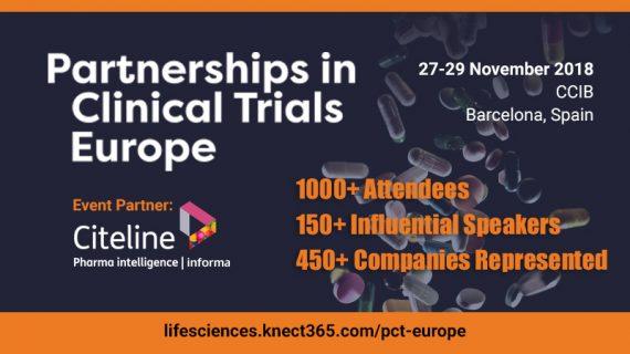 Partnerships in Clinical Trials Europe | 27-29 November 2018 | CCIB, Barcelona