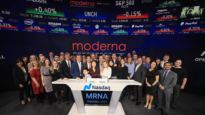 Moderna shares slide after record $604m US listing