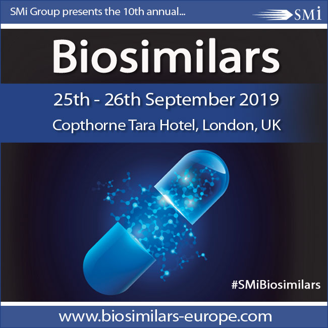 Save the date for SMi's 10th Annual Biosimilars Conference 2019