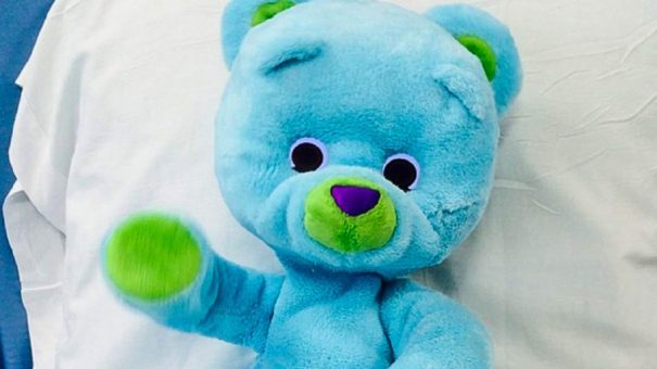 Study explores using Huggable robotic bear with hospitalised kids