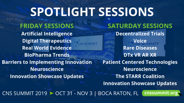 CNS Summit 2019 | Oct 31 – Nov 3, Boca Raton, FL
