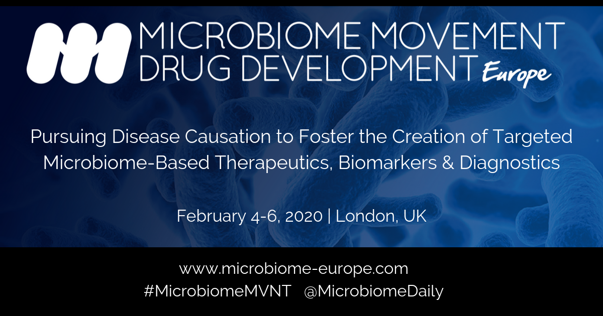 4th Microbiome Movement – Drug Development Europe Summit
