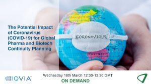 The COVID-19 coronavirus and pharma and biotech continuity planning