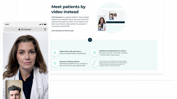 LIVI launches app helping clinicians interact with self-isolating patients