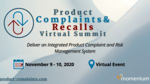 Product Complaints & Recalls Virtual Summit