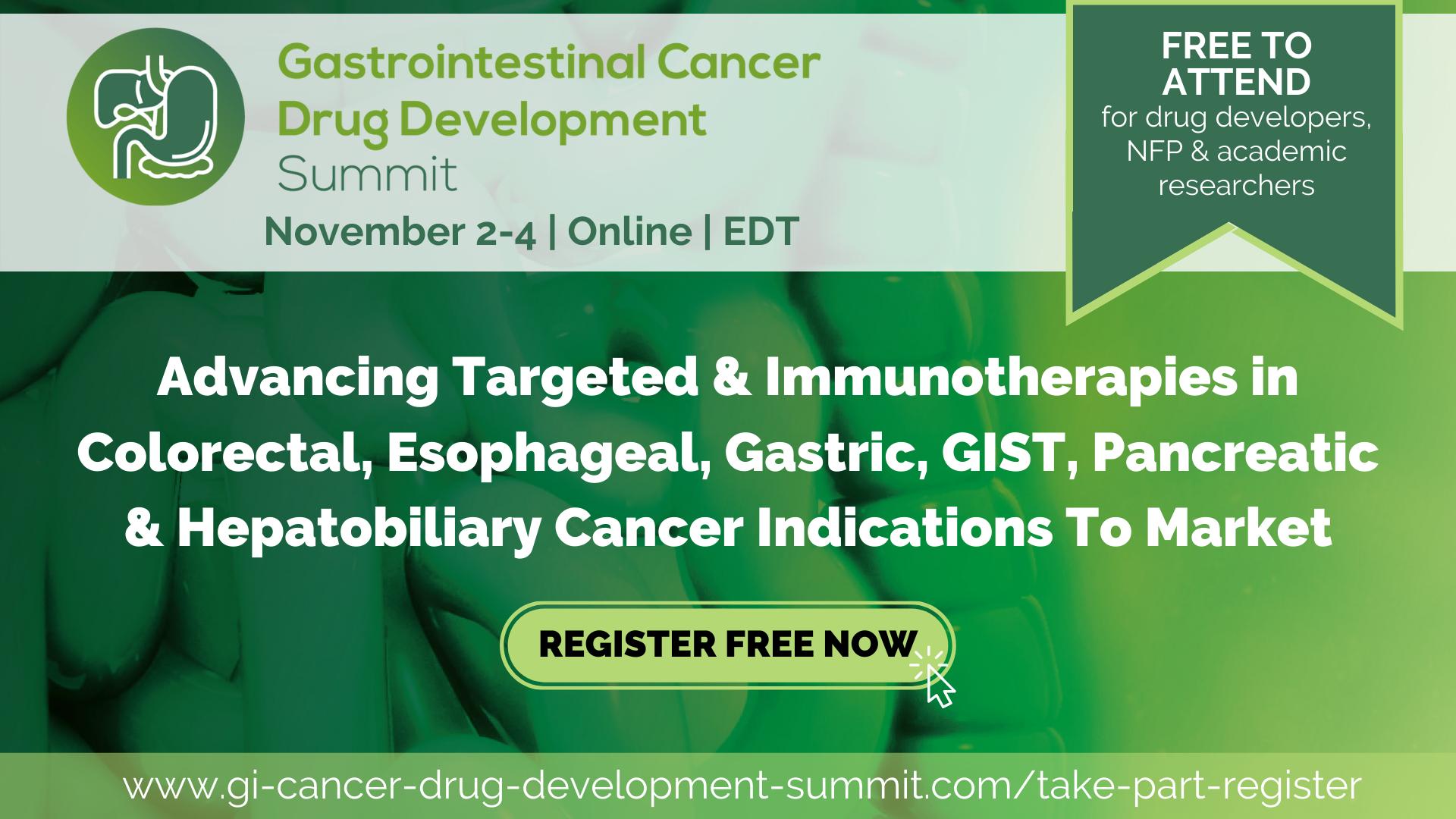 FREE – Gastrointestinal Cancer Drug Development Digital Summit